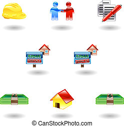 Shiny Real Estate Icons