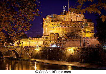 View of Castel Sant'Angelo, Rome.