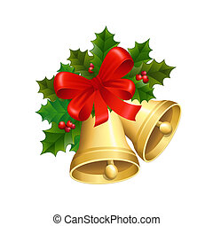 Christmas bells - Vector illustration of the Christmas bells...