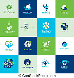 Set of medical flat icons - Set of icons for medicine,...