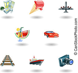 Travel and tourism icon set - A travel and tourism web icon...