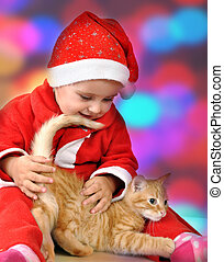 Christmas portrait of a child with