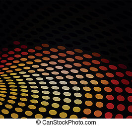 Black dotted background - Black design abstract , vector...