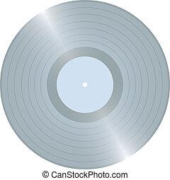 Platinium LP - Blank Platinium LP vinyl record vector...
