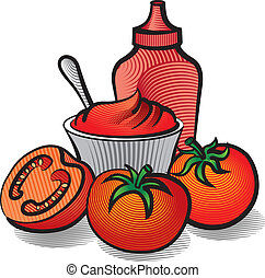 tomatoes and ketchup
