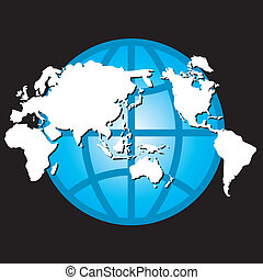 Vector globe and map design