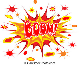 Boom comics icon vector illustration