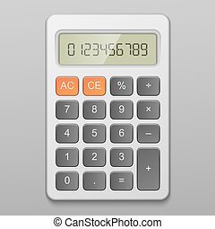 calculator - Realistic digital calculator vector...