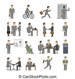Office people set - Office people scenes set vector...