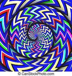 Split Personality - A rotating spiral pattern is featured in...