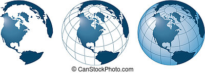 3 globes - 3 ector globes
