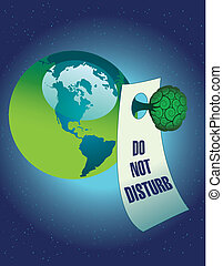 Do not disturb the environment - A vector Do not disturb the...