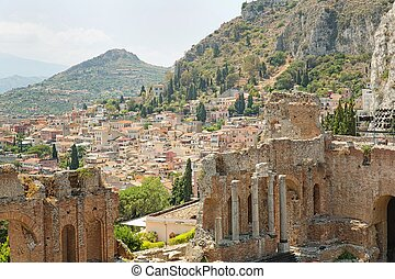 Taorm?na - Sicily - View of one of the most beautiful cities...
