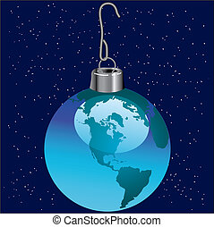 ornament of the planet earth - A Christmas ornament that is...
