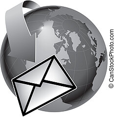 email encircles the earth - A depiction of how email...