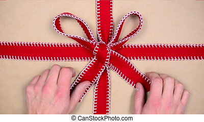 gift chroma key - unwrapping gift, chroma key