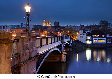 Windsor Castle - The bridge from Eton to windsor facing...