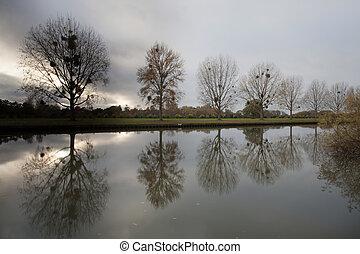 Windsor castle over the river thames