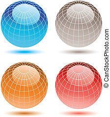 assorted colorful globes.