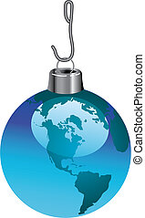 A global christmas ornament - A Christmas ornament that is...