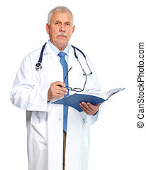 Doctor physician. - Doctor physician Standing Isolated on...