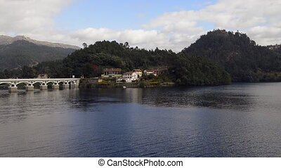 Bridge of Geres National Park, north of Portugal. Panoramic...