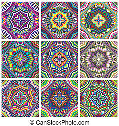Ethno Pattern Set - Seamless vector textures with spiritual...