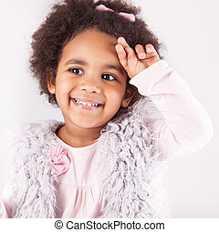 African descent child - Portrait of a beautiful african...