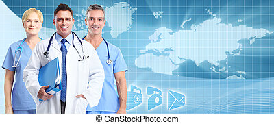 Health care background - Group of medical doctors over...