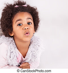 African descent child - Portrait of a beautiful afric