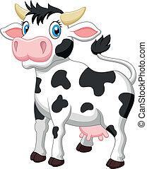 Cute cow cartoon  - Vector illustration of Cute cow cartoon