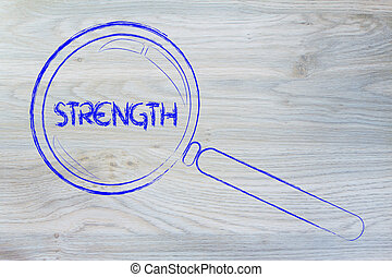 finding strength, magnifying glass design - magnifying glass...
