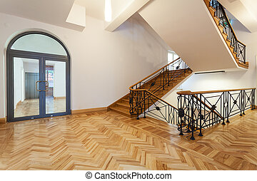 Hall with staircase