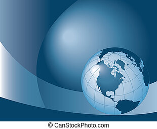binary globe - A binary, digital background with globes