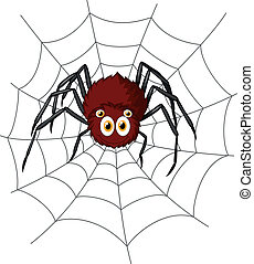 Cute spider cartoon - Vector illustration of Cute spider...