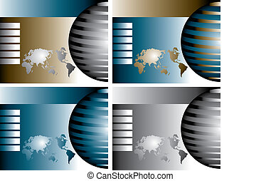 4 vector globes