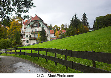 Road and guesthouse - Beautiful Bavarian guesthouse and...