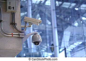 CCTV cameras in the airport