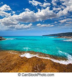 Formentera Escalo de San Agustin beach turquoise...