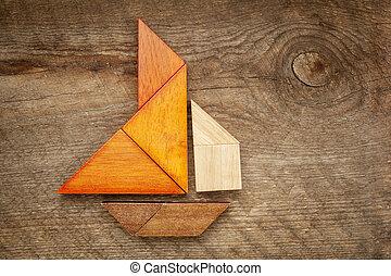Kivonat, Vitorlás hajó, tangram,...