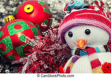 Christmas happy snowmans
