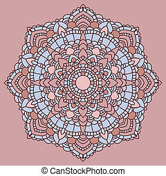 Mandala Indian decorative pattern Vector illustration