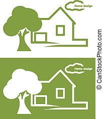 Home design. Icon for design
