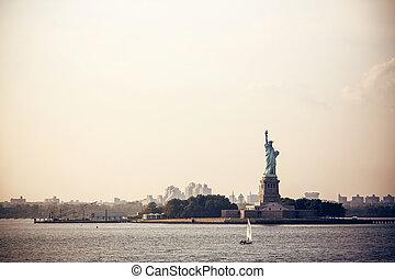 szobor, új,  York, Szabadság