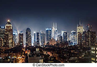 Night view of Midtown Manhattan taken from 10th avenue