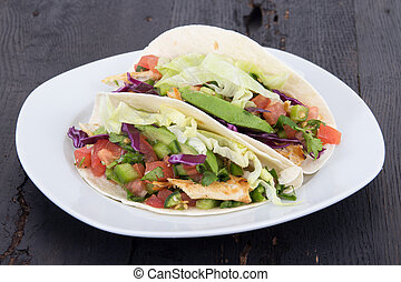 chicken soft taco