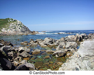 Cies Islands - Natural Park Cies Islands in Galicia Spain