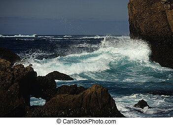 Waves Breaking on Coastline