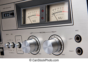 Stereo Cassette Tape Deck Analog controls Vintage - Stereo...