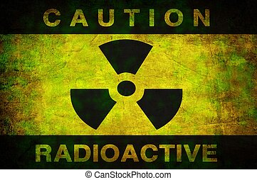 Radioactive background - grunge dirty wall